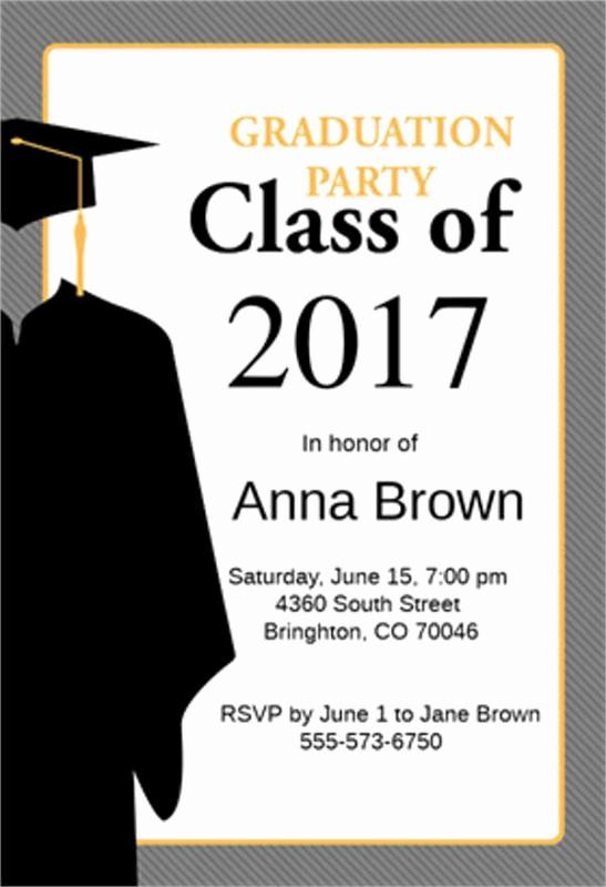 Graduation Party Invitation Template Word Best Of Graduation Announcement Template