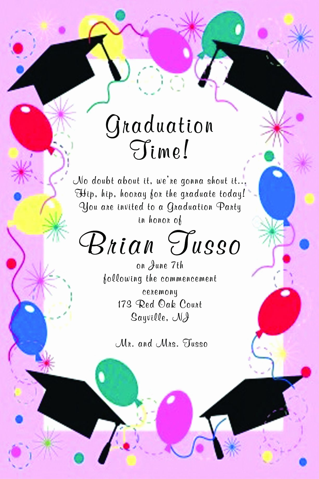 Graduation Party Invitation Template Word Best Of Graduation Invitations Templates