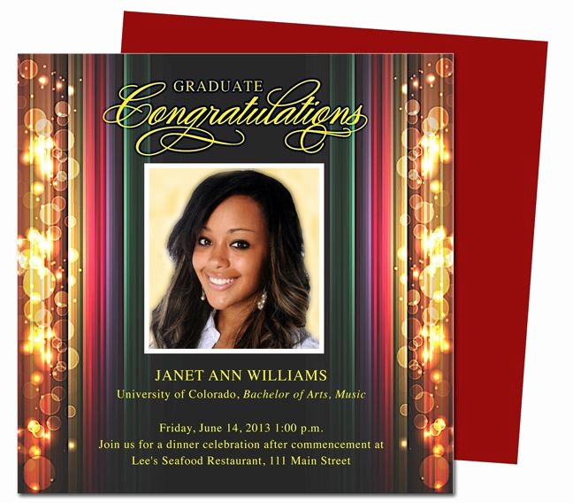 Graduation Party Invitation Template Word Best Of Stage Graduation Party Announcements Templates Use with