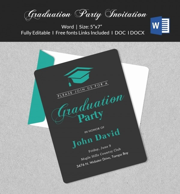 Graduation Party Invitation Template Word Fresh 50 Microsoft Invitation Templates Free Samples