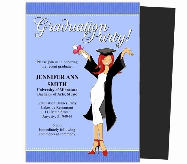 Graduation Party Invitation Template Word Inspirational Graduation Party Invitations Templates 2018