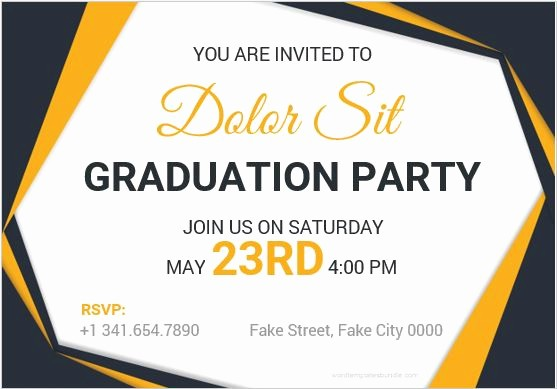 Graduation Party Invitation Template Word Lovely 10 Best Graduation Party Invitation Card Templates Ms Word