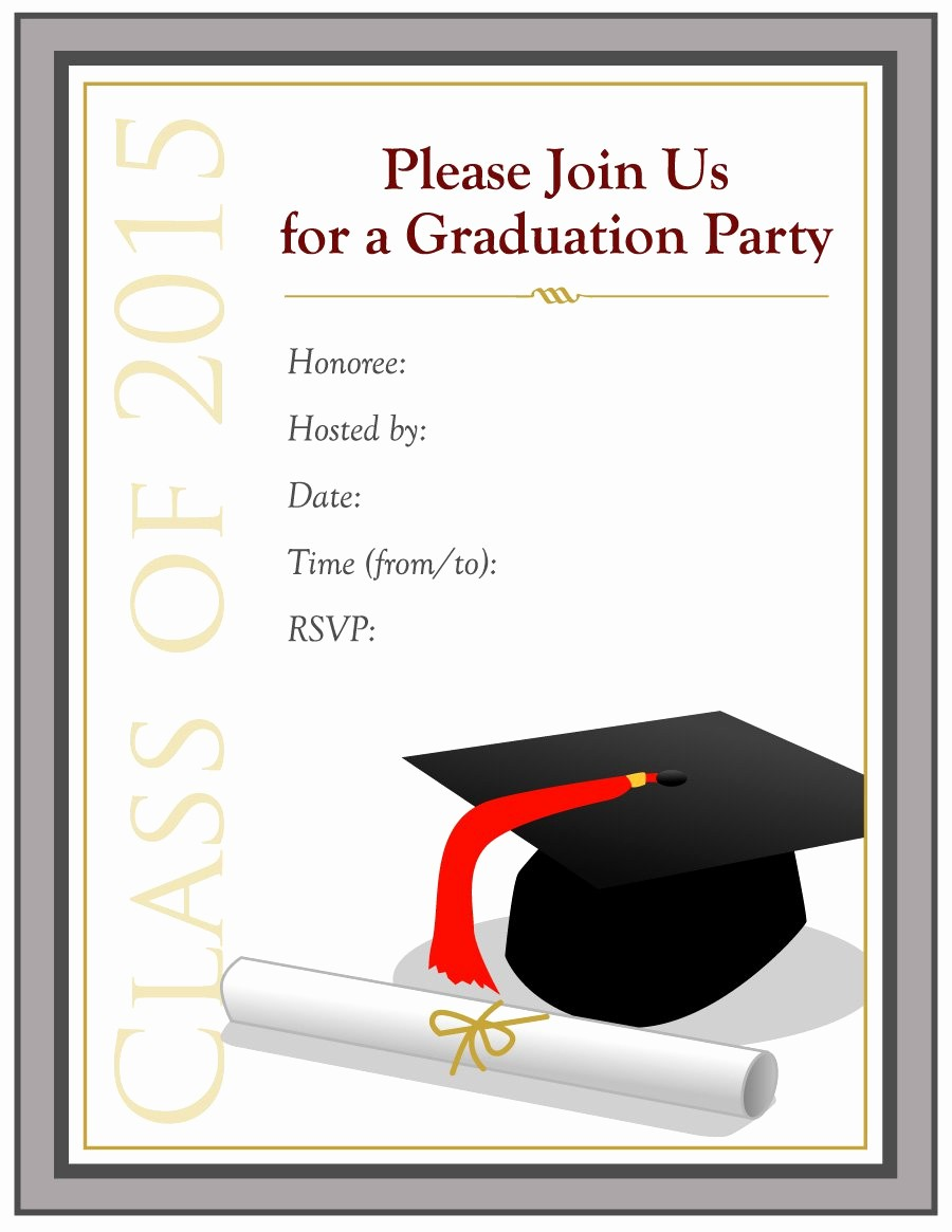 Graduation Party Invitation Template Word Lovely 40 Free Graduation Invitation Templates Template Lab