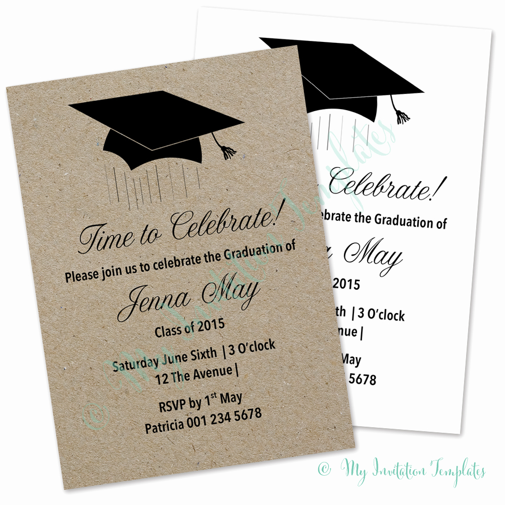 Graduation Party Invitation Template Word Luxury Template Graduation Invitation Template