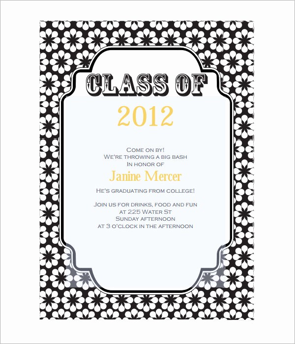 Graduation Party Invitation Template Word New 7 Graduation Invitation Templates