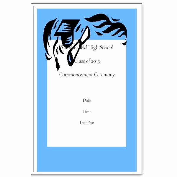Graduation Program Template Microsoft Word Awesome Want to Make Your Own Graduation Program Templates Make