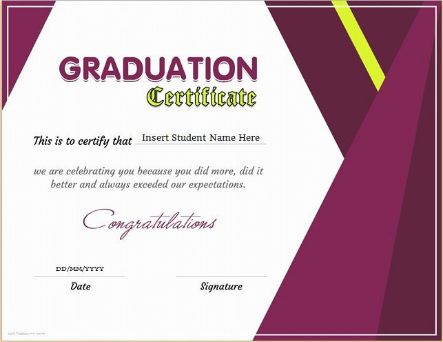 Graduation Program Template Microsoft Word Best Of Graduation Certificate Templates for Ms Word