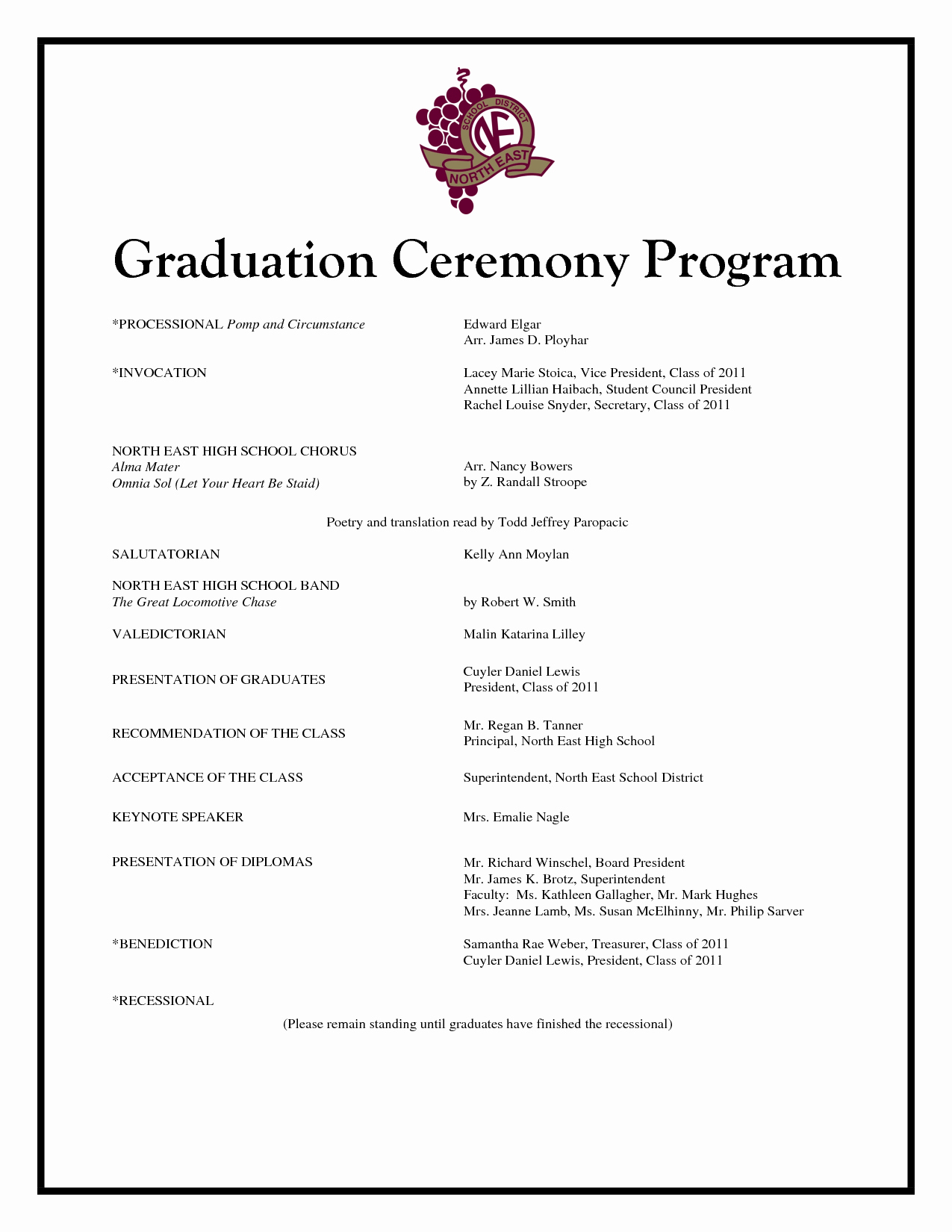 Graduation Program Template Microsoft Word Fresh Graduation Program Template Beepmunk