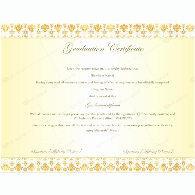 graduation certificate 08