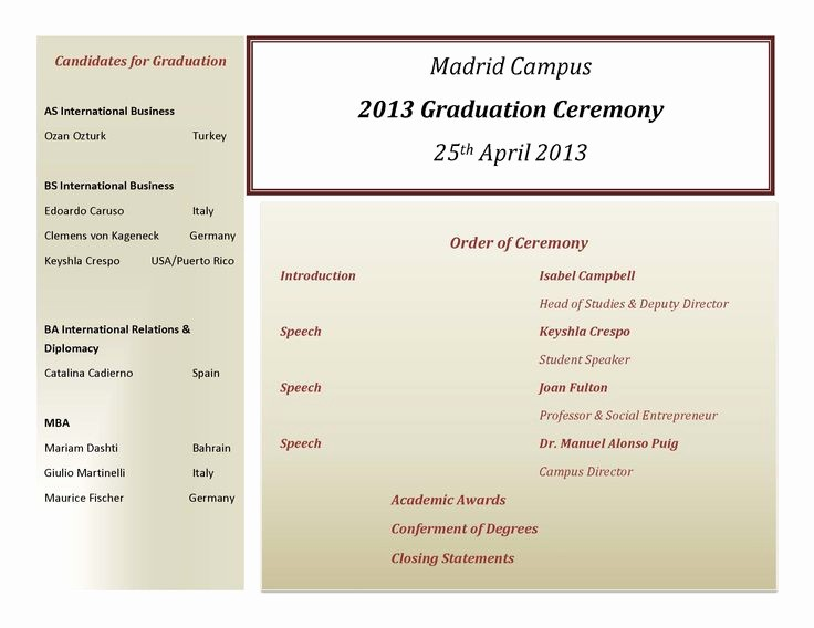 Graduation Program Template Microsoft Word New Graduation Program Designs Teachnewsun Over Blog