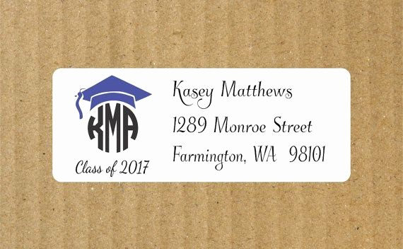 Graduation Return Address Labels Templates Awesome 1000 Ideas About Address Labels On Pinterest
