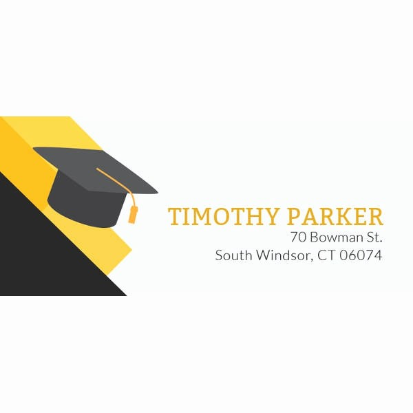 Graduation Return Address Labels Templates Best Of 58 Free Label Designs Psd Vector Eps Ai