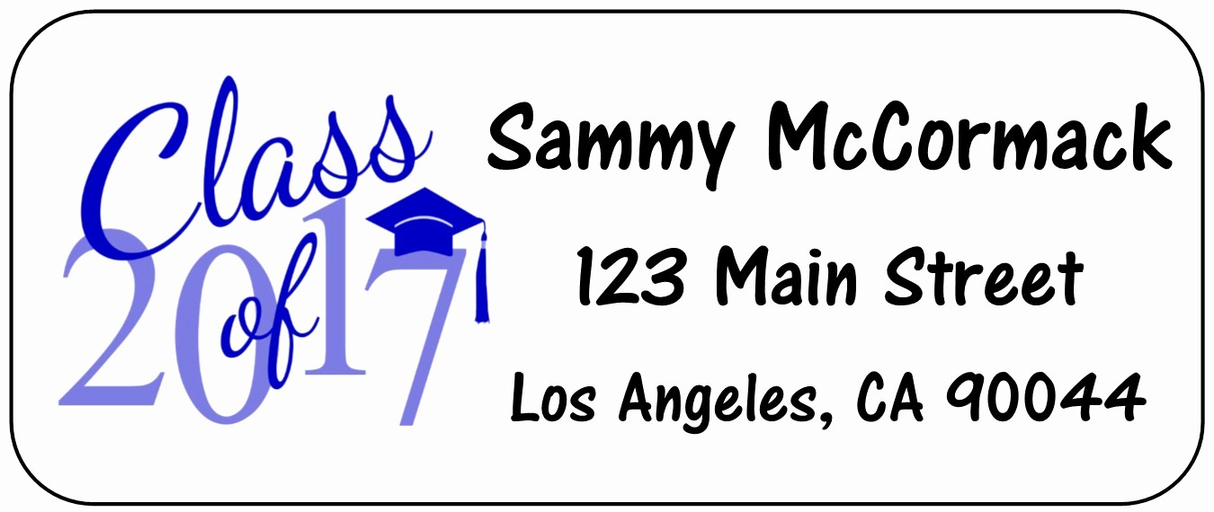 Graduation Return Address Labels Templates Fresh Personalized Address Labels Custom Address Labels Free