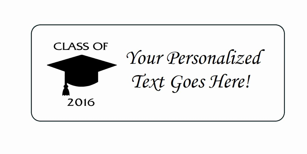 Graduation Return Address Labels Templates Inspirational Personalized Class Of 2016 Graduation Return Address