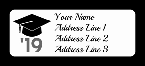 Graduation Return Address Labels Templates Lovely Graduation Cap Address Labels Label Templates Ol385
