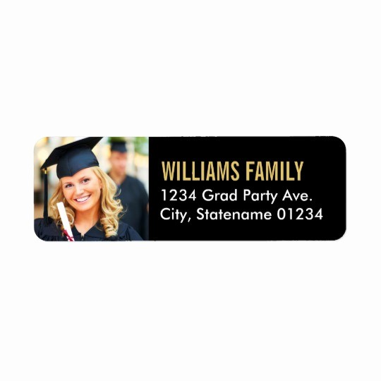Graduation Return Address Labels Templates Lovely Return Address Labels Graduation Design