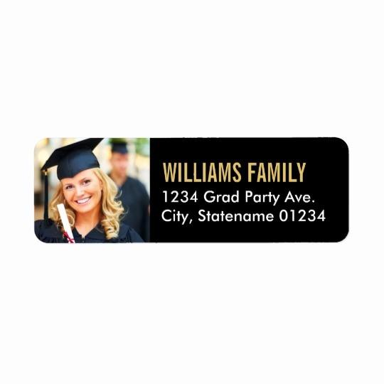 Graduation Return Address Labels Templates Lovely Return Address Labels Graduation Design