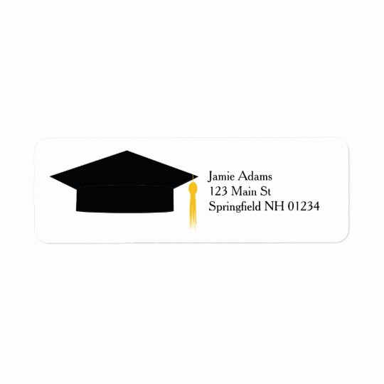 Graduation Return Address Labels Templates Luxury Graduation Cap Return Labels