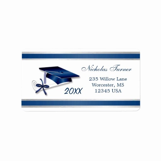Graduation Return Address Labels Templates New Graduation Mortar Cap & Diploma Avery Label Address Label