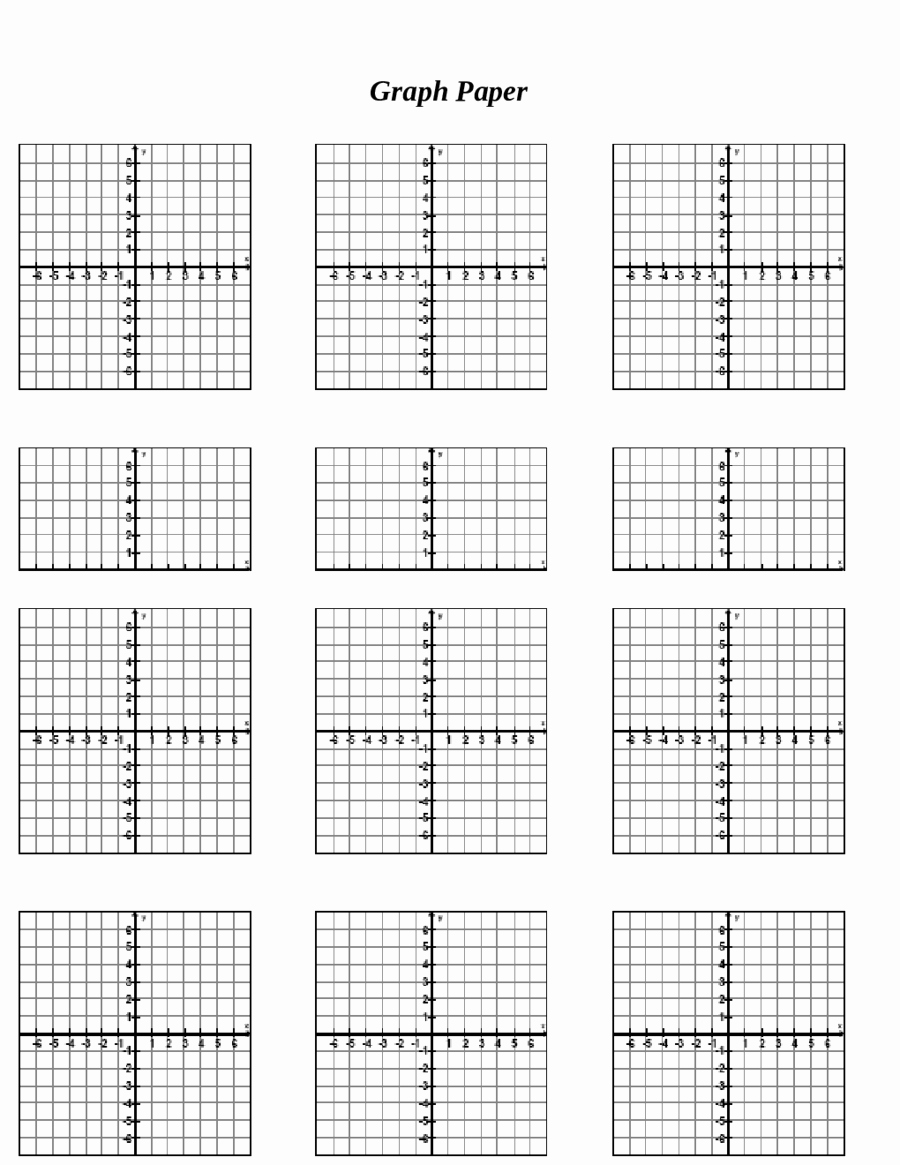Graph Paper Template With Numbers Inspirational Top 10 Printable