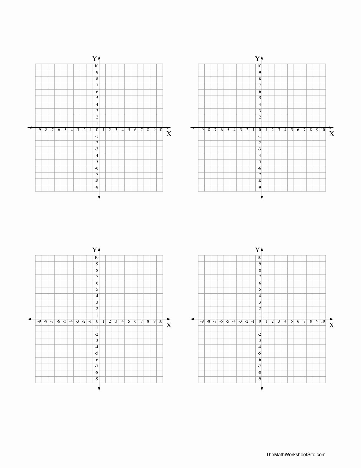 Graph Paper Template with Numbers Elegant 11 Best Of Algebra Coordinate Plane Worksheets