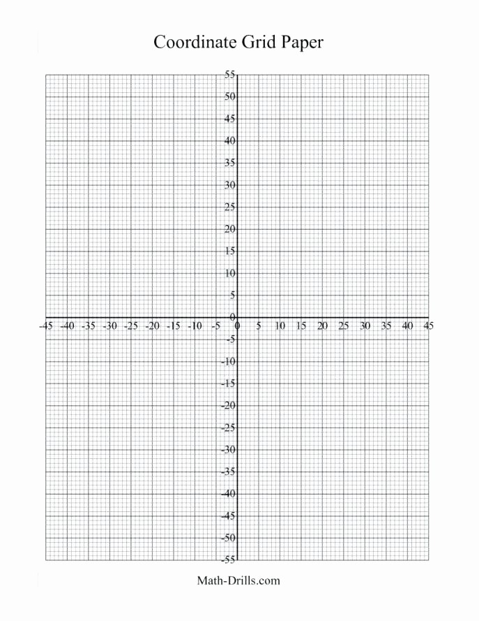 Graph Paper Template with Numbers Inspirational Math Graph Paper with Coordinate Plane Axes Introduction