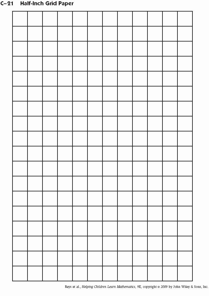 Graph Paper to Print Out Luxury 1 Inch by 1 Inch Grid