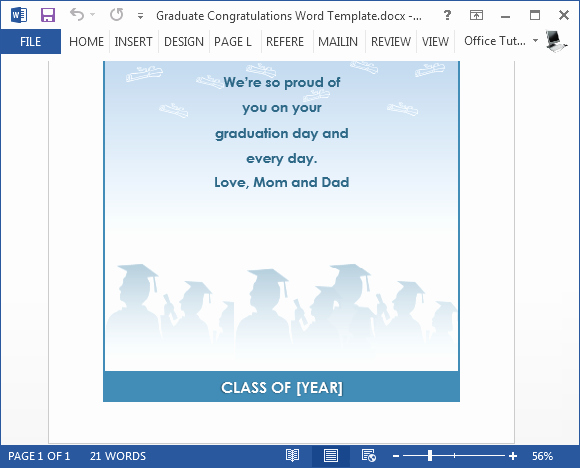 Greeting Cards Templates for Word Awesome Free Graduation Congratulations Card Template for Word