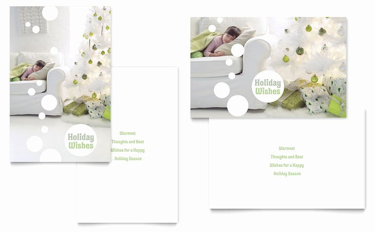 Greeting Cards Templates for Word Beautiful Christmas Dreams Greeting Card Template Word & Publisher