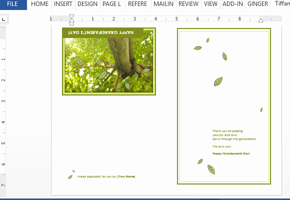 Greeting Cards Templates for Word Fresh Grandparent S Day Word Template