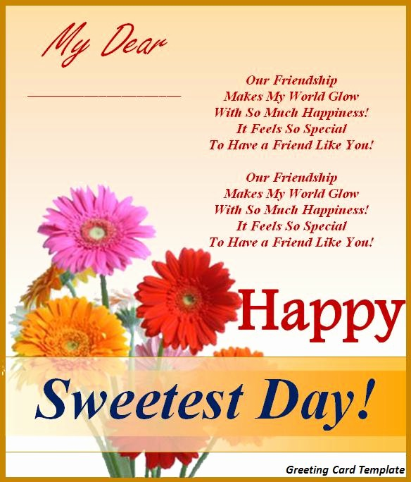 Greeting Cards Templates for Word Inspirational 5 Greeting Card Templates Word Excel Pdf Templates