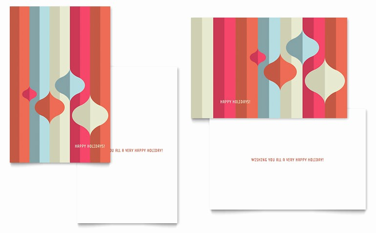 Greeting Cards Templates for Word Unique Modern ornaments Greeting Card Template Word & Publisher