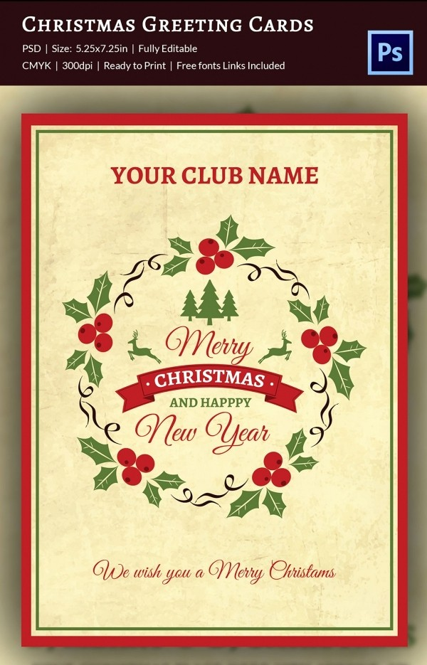 Greeting Cards Templates Free Downloads Beautiful 120 Christmas Greeting Card Templates Free Psd Eps Ai