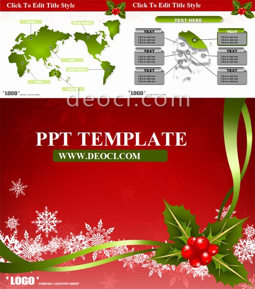 Greeting Cards Templates Free Downloads Beautiful Powerpoint Greeting Card Template Red theme Christmas
