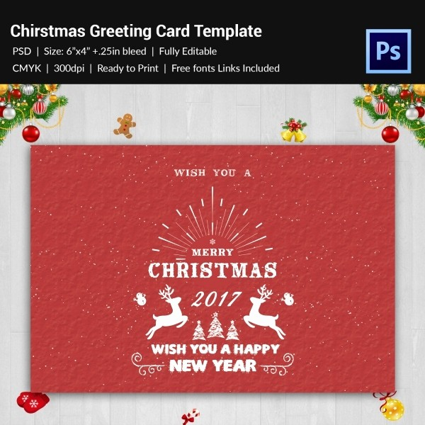 Greeting Cards Templates Free Downloads Elegant 120 Christmas Greeting Card Templates Free Psd Eps Ai