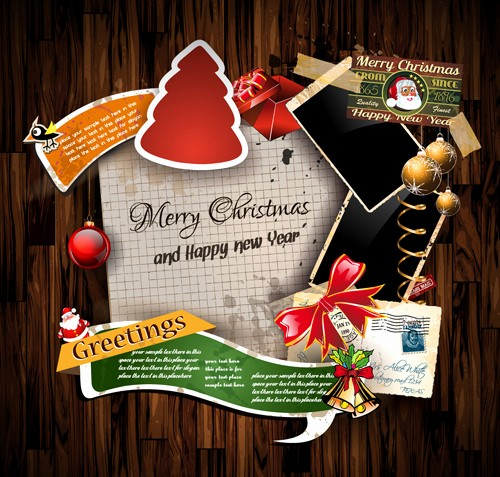 Greeting Cards Templates Free Downloads Fresh Christmas Greetings Cards Vector Template Free Vector In