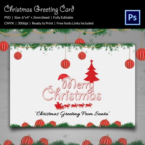 Greeting Cards Templates Free Downloads Lovely 21 Christmas Greeting Cards Psd format Download