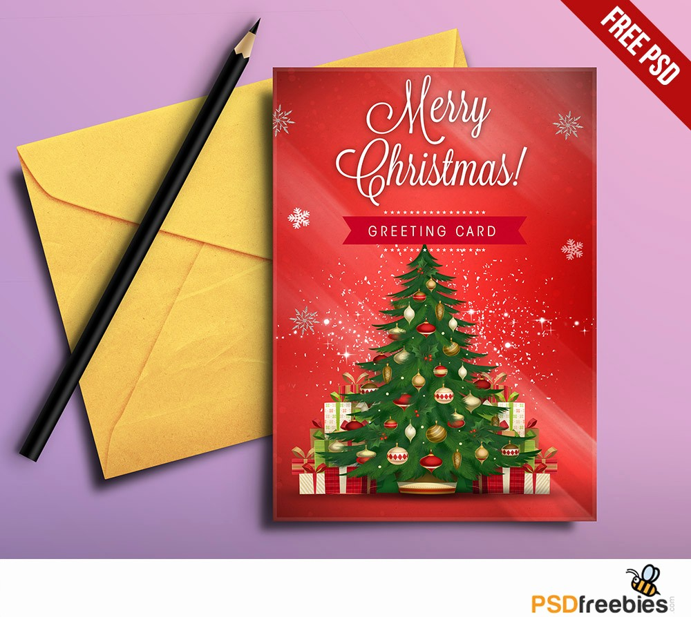 Greeting Cards Templates Free Downloads New Christmas Greeting Card Free Psd Download Download Psd