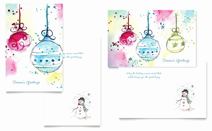 Greetings Card Templates for Word Awesome Whimsical ornaments Greeting Card Template Design