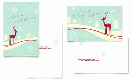 Greetings Card Templates for Word Best Of Antique Deer Greeting Card Word Template & Publisher