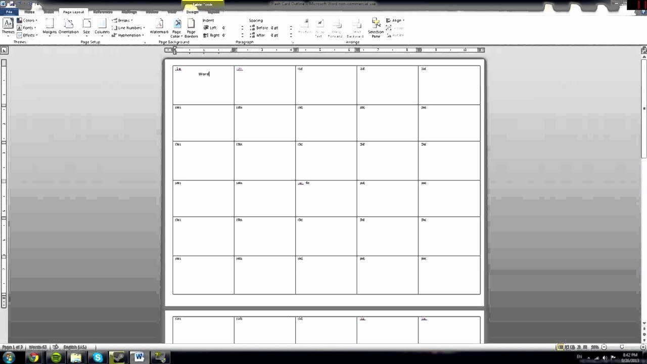 Greetings Card Templates for Word Inspirational Tutorial How to Make Microsoft Word Note Cards Quickly