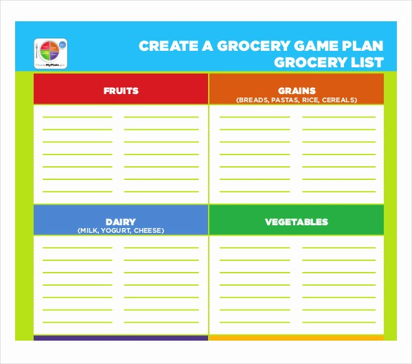 Grocery List by Aisle Template Lovely 10 Blank Grocery List Templates Pdf Doc Xls