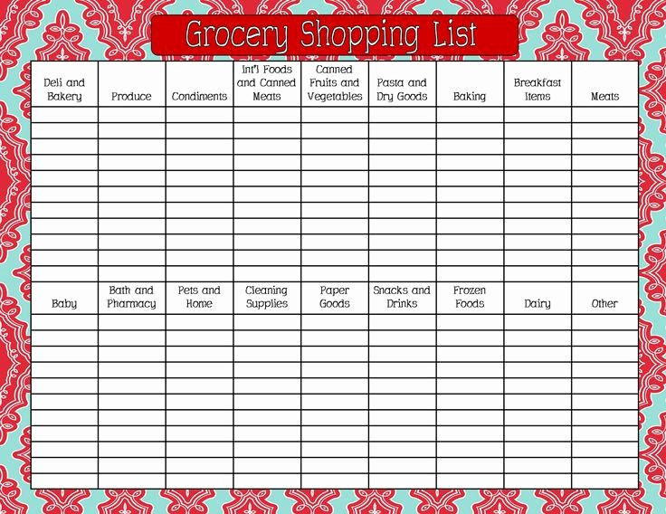 Grocery List by Aisle Template Lovely 1000 Ideas About Grocery List Printable On Pinterest