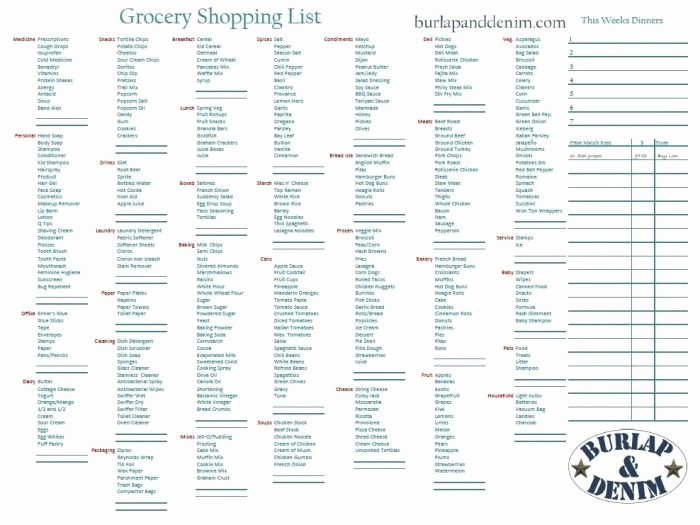 Grocery List with Prices Template Beautiful Grocery List Maker with Prices