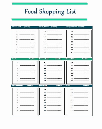 Grocery List with Prices Template Best Of 127 Best Images About Templates On Pinterest