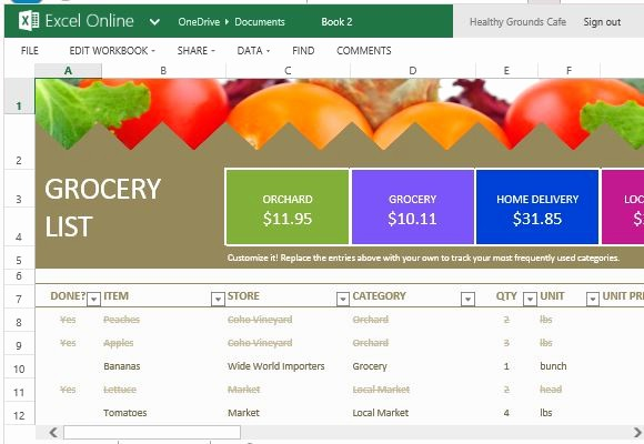 Grocery List with Prices Template Lovely Grocery List and Price Parison Template for Excel Line