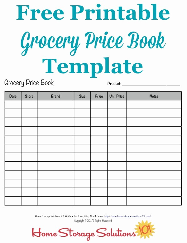 Grocery List with Prices Template Luxury Grocery Price Book Use It to Pare Grocery Prices In