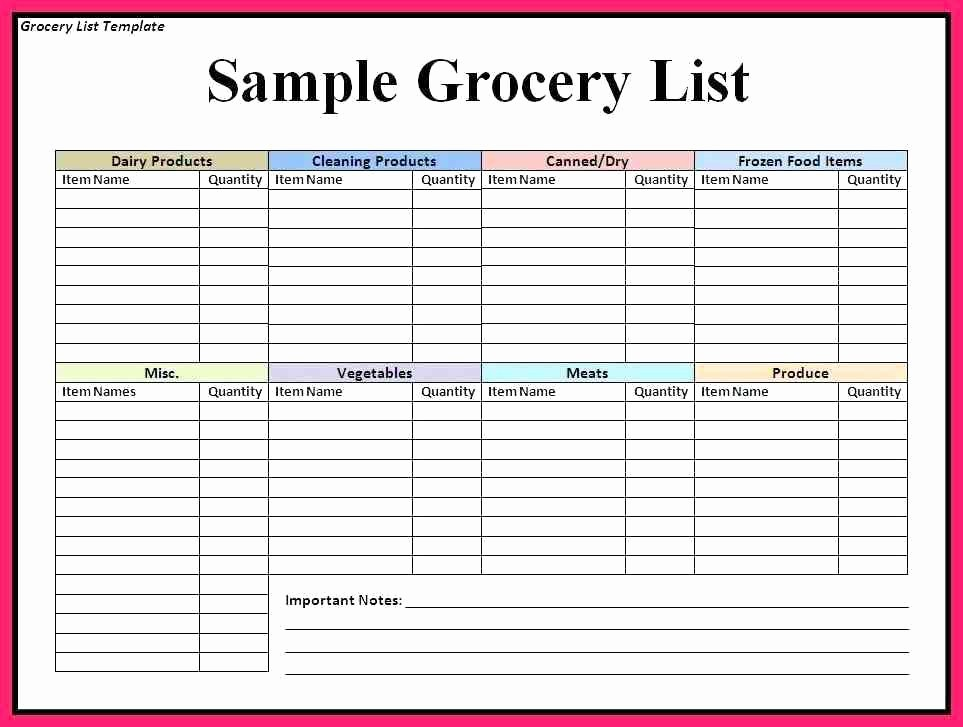 Grocery List with Prices Template New 8 9 Price Lists Template