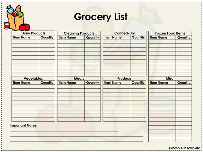 Grocery List with Prices Template Unique Price List Templates Free Samples and formats for Excel
