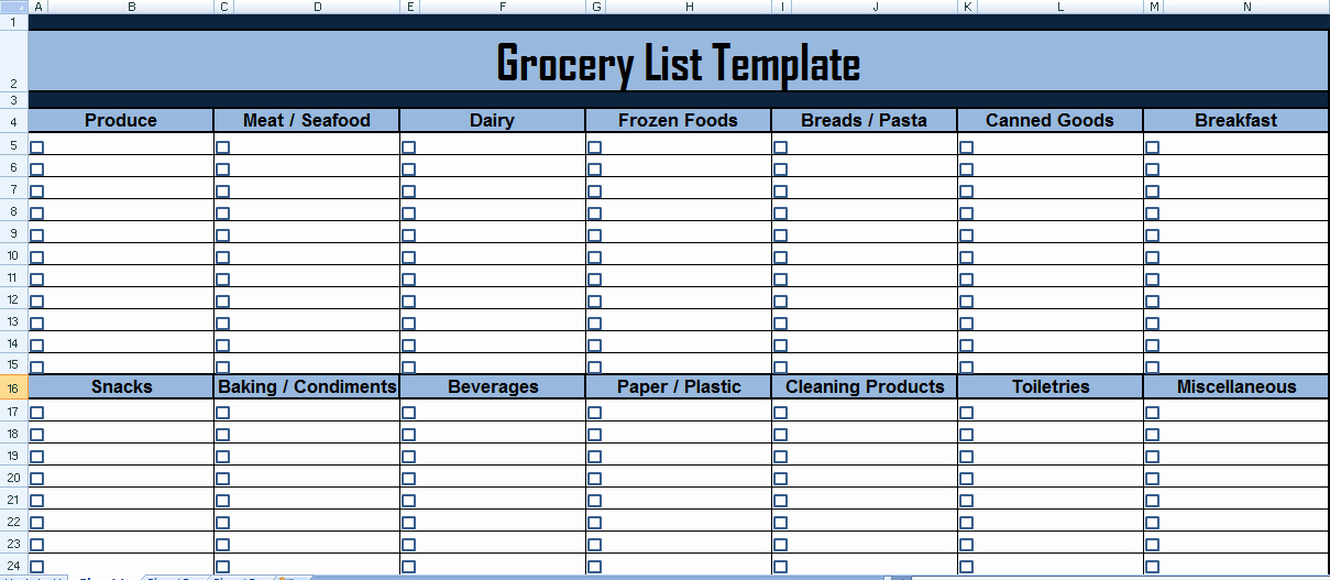 Grocery Shopping List Template Excel Elegant Project Management Expense Tracking Template